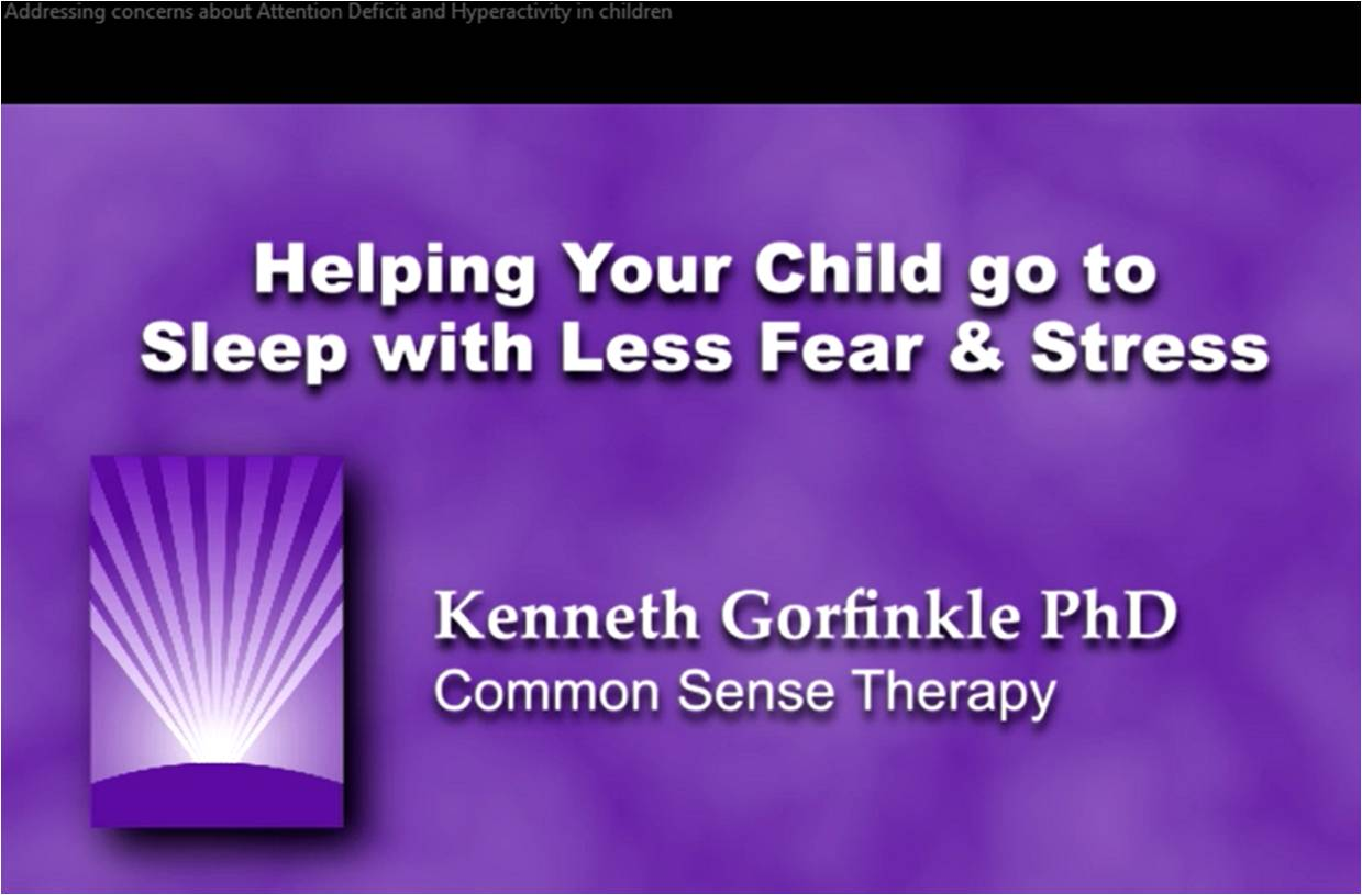 Helping your child go to sleep with less fear and stress